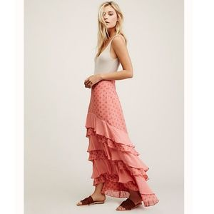Free People Wildflower Ruffle Maxi Skirt